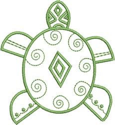 Native Sea Turtle embroidery design