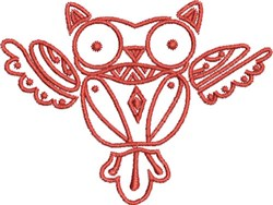 Native Designs Owl embroidery design