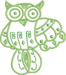 Wise Native Owl embroidery design