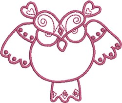 Angry Owl Native Design embroidery design