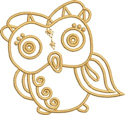 Aztec Baby Owl embroidery design