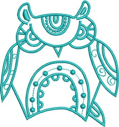 Stern Native Owl embroidery design