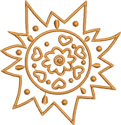 Native Hot Sun embroidery design