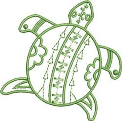 Native Desert Turtle embroidery design