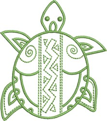 Desert Turtle embroidery design