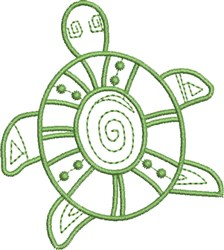 Whimsical Turtle embroidery design