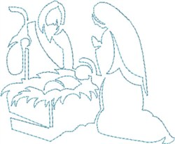 Nativity Quilting Outline embroidery design