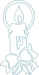 Candle Quilting Outline embroidery design