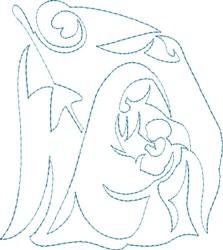Holy Family Outline embroidery design