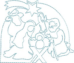 Quilting Manger Scene embroidery design
