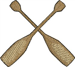 Oars embroidery design
