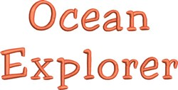 Ocean Explorer embroidery design