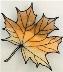 ITH Organza Autumn Leaf 1 embroidery design