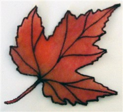 ITH Organza Autumn Leaf 3 embroidery design