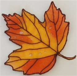 ITH Organza Autumn Leaf 4 embroidery design