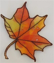 ITH Organza Autumn Leaf 5 embroidery design