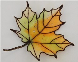 ITH Organza Autumn Leaf 6 embroidery design