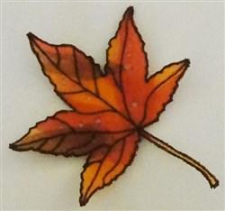 ITH Organza Autumn Leaf 7 embroidery design
