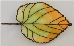ITH Organza Autumn Leaf 9 embroidery design