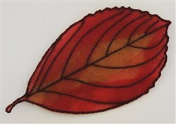 ITH Organza Autumn Leaf 10 embroidery design