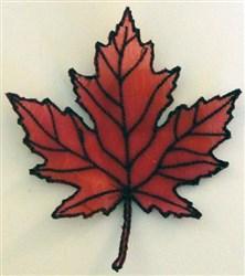 ITH Organza Autumn Leaf 2 embroidery design