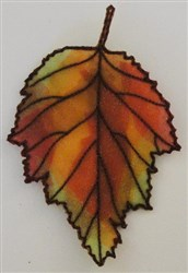 ITH Organza Autumn Leaf 8 embroidery design