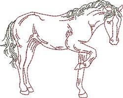 Counting Outline Horse embroidery design