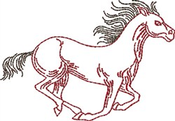 Racing Outine Horse embroidery design
