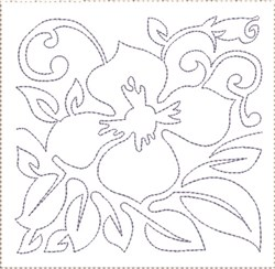 Pansy Quilt Block 1 embroidery design