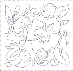 Pansy Quilt Block 9 embroidery design