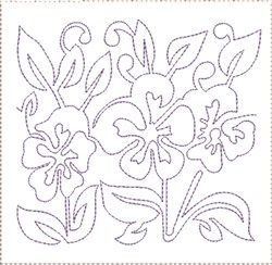 Pansy Quilt Block 10 embroidery design