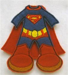 Felt Boy Paperdoll Super Hero Costume embroidery design