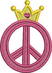 Royal Peace Sign embroidery design