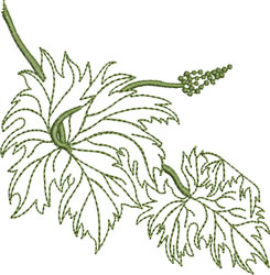 Greenwork Grape Leaves embroidery design