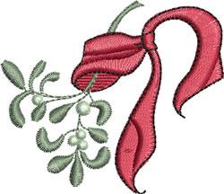 Mistletoe and Ribbon embroidery design