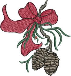 Beribboned Pine Cones embroidery design