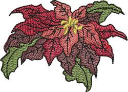Elegant Pointsettia embroidery design