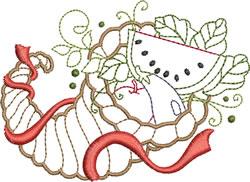 Cornucopia embroidery design