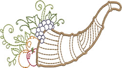 Greek Cornucopia embroidery design