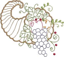 Cornucopia With Grapes embroidery design