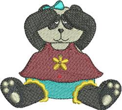 Peek-A-Boo Panda embroidery design