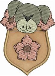 Fido Pocket Applique embroidery design