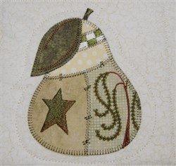 Prim Pear Quilt Block embroidery design