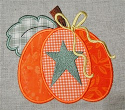 Country Pumpkin Applique embroidery design
