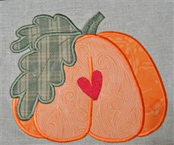 Prim Pumpkin Applique embroidery design