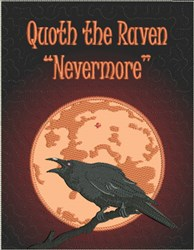 Quoth the Raven Quilted Block embroidery design