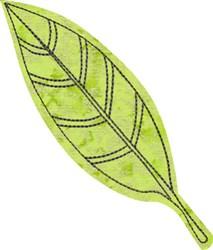 Raw Edge Leaf Applique 1 embroidery design
