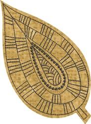 Raw Edge Leaf Applique 3 embroidery design