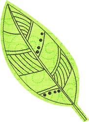 Raw Edge Leaf Applique 10 embroidery design