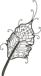 Refined Feather 1 embroidery design